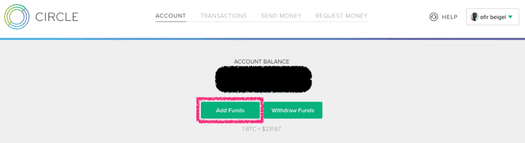 add funds circle