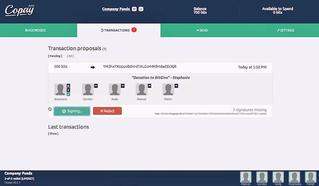 BitPay Copay Bitcoin Multisig