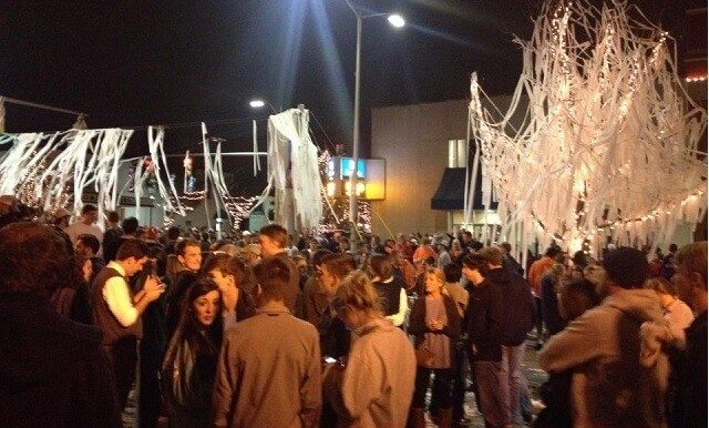 College Students From Auburn Roll Toomers Corner