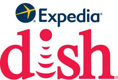 Combination of the Expedia and Dish logos