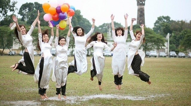 Women Jumping for a Picture