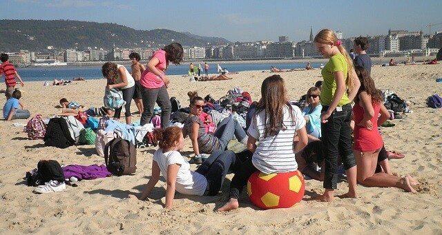 Random Teenagers on a Beach