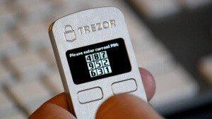 trezor pin code device