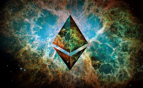 Ethereum Logo With Universe Backdrop