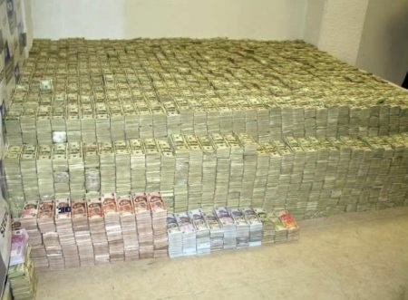 Dollars used in drug trade.