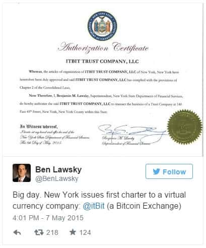 itBit license