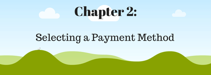 Chapter 2 - Choosing a payment method