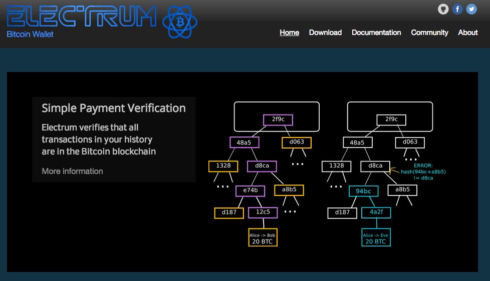 Electrum homepage