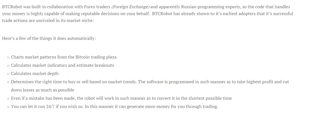 how btcrobot bitcoin trading software works