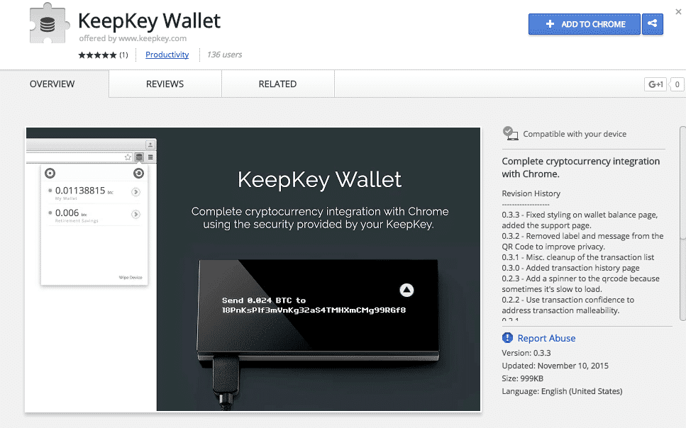 keepkey chrome app