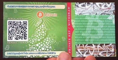 Christams paper wallet