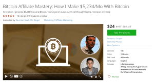 Udemy course Bitcoin