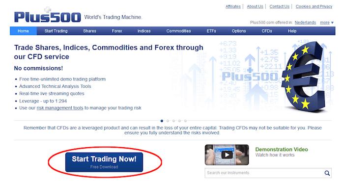 start trading now