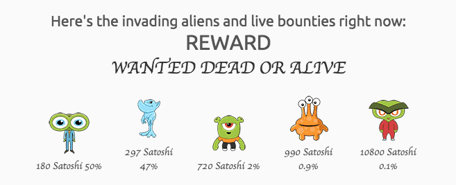Alien faucet rewards