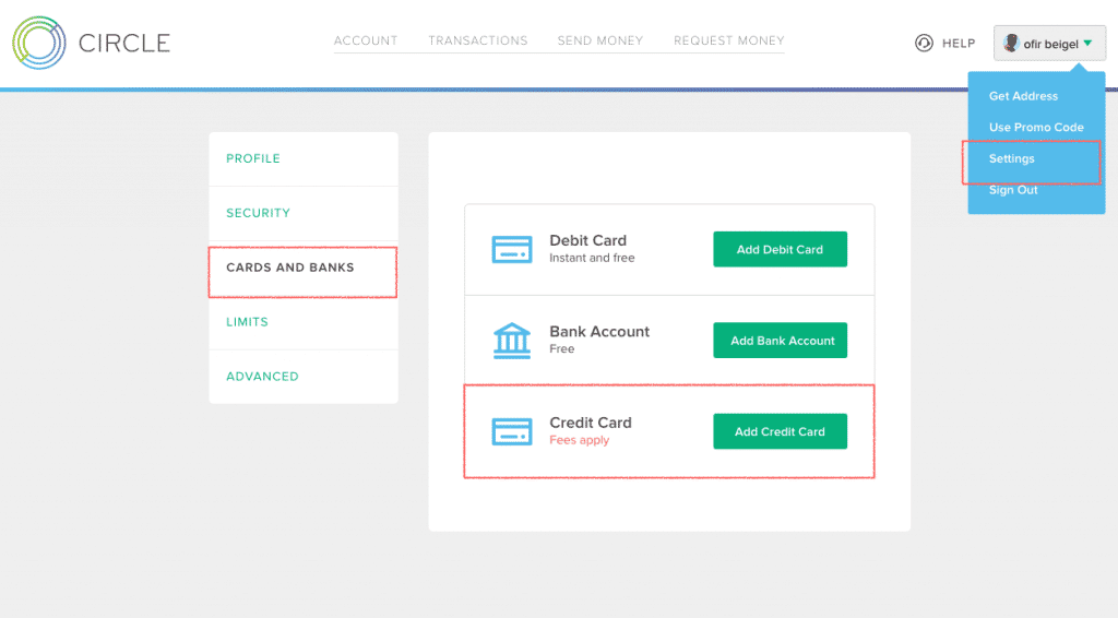 add credit card circle