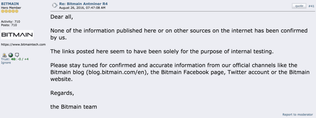 Bitmain announcment bitcointalk