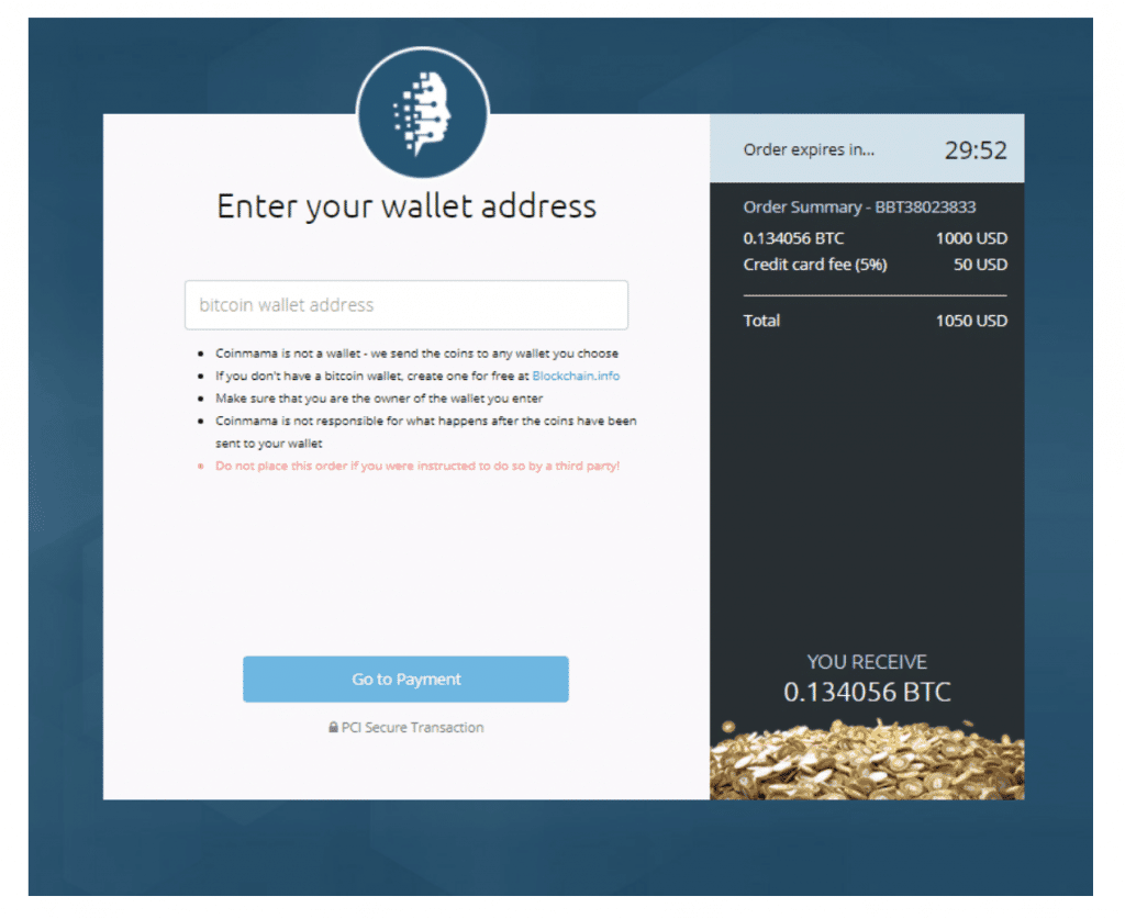 Coinmama wallet address