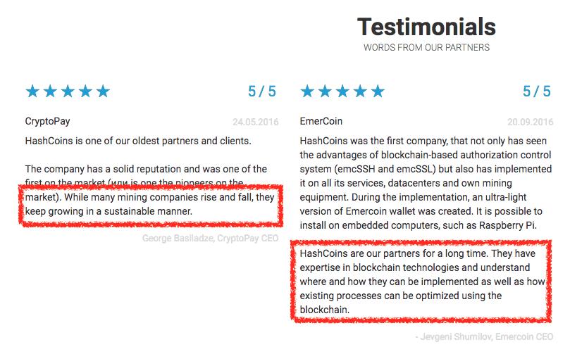 hashcoin testimonials