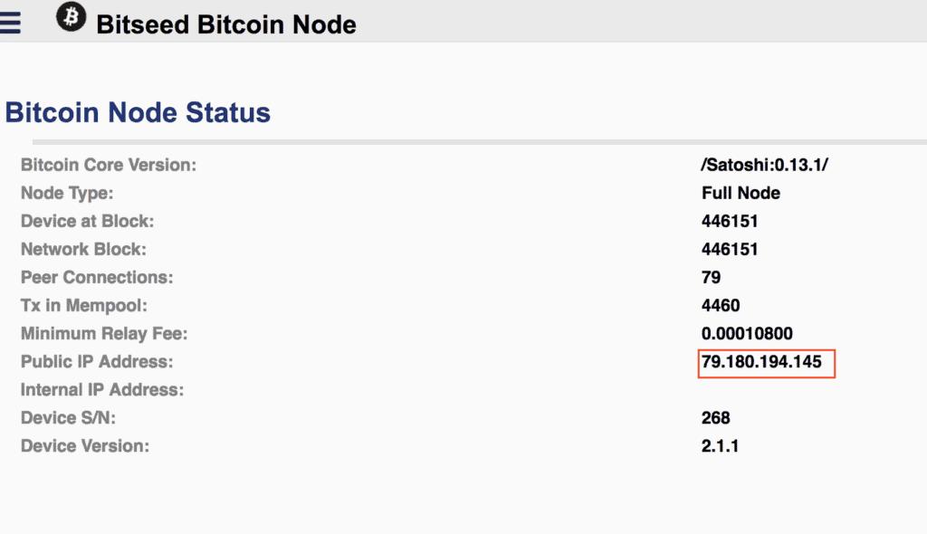 Bitseed node status