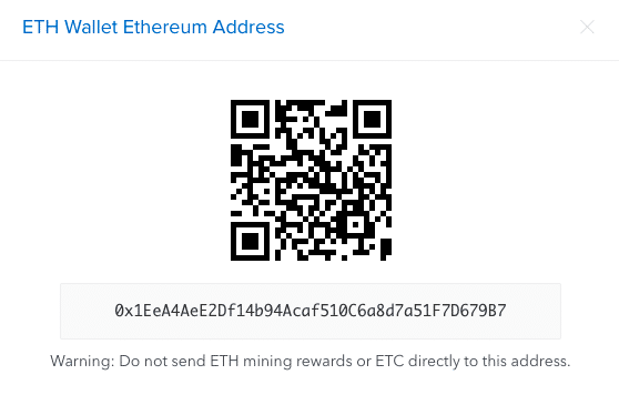 Ethereum address coinbase