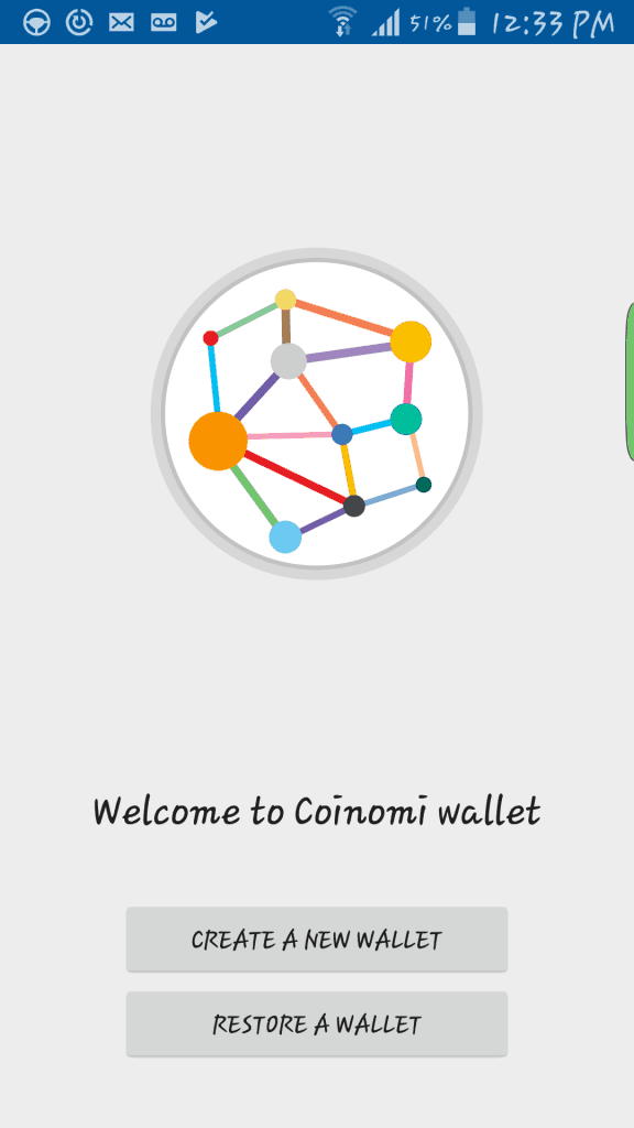 Coinomi new wallet