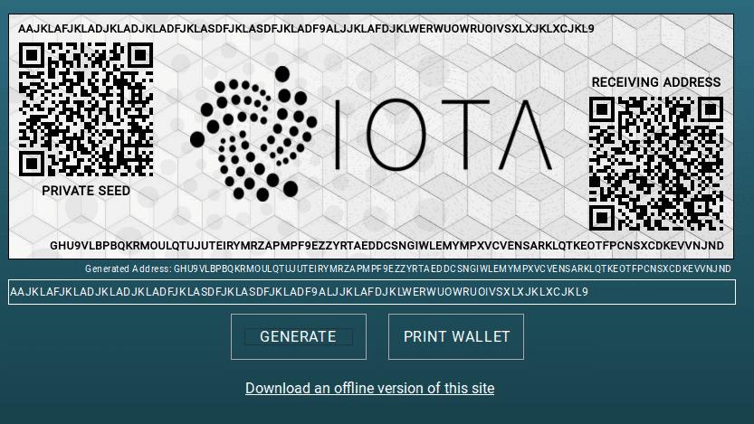 IOTA paper wallet