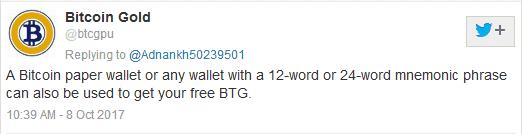 Bitgold tweet