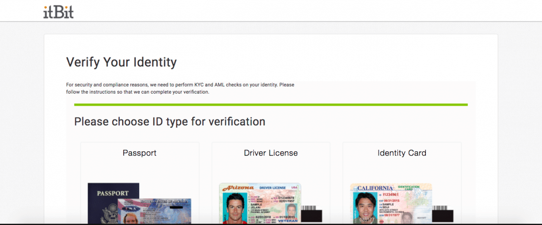 ItBit Identity Verification