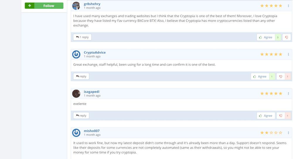 Cryptopia reviews