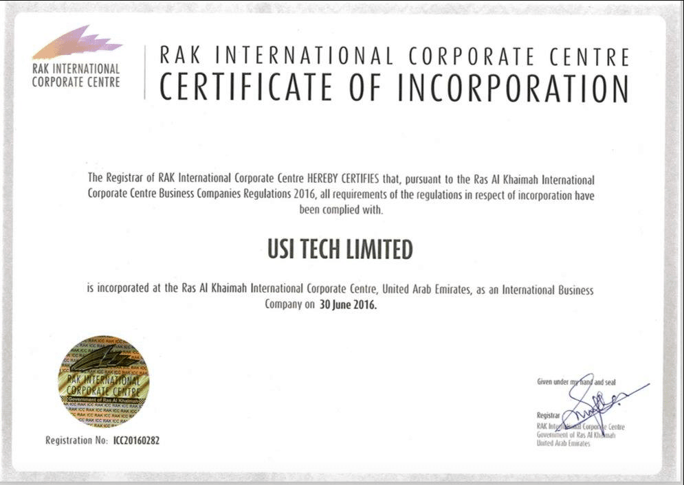 Pendaftaran Perusahaan USI Tech