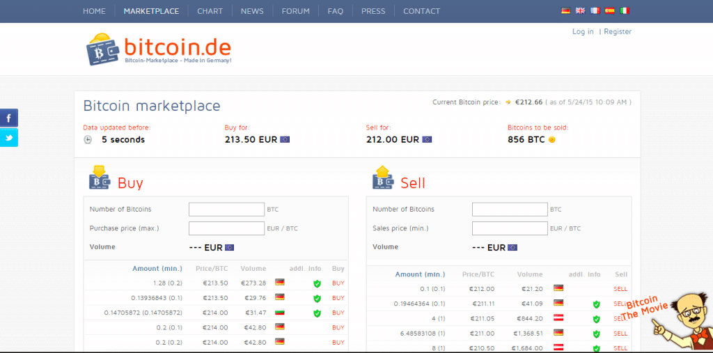 Bitcoin.de Interface