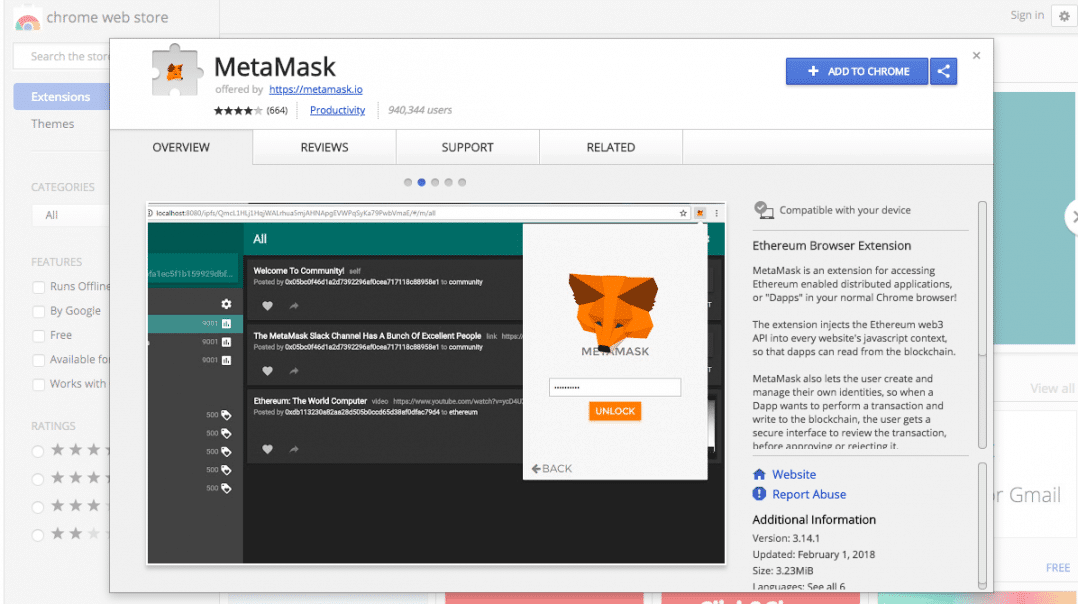 MetaMask Chrome Store