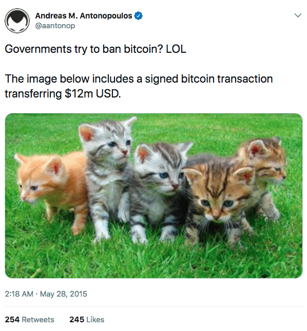 Bitcoin image transaction