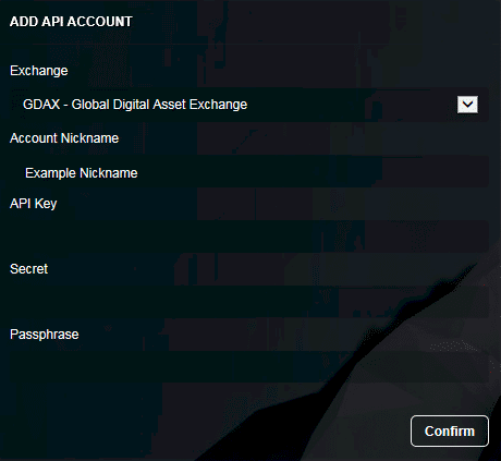 Coinigy API