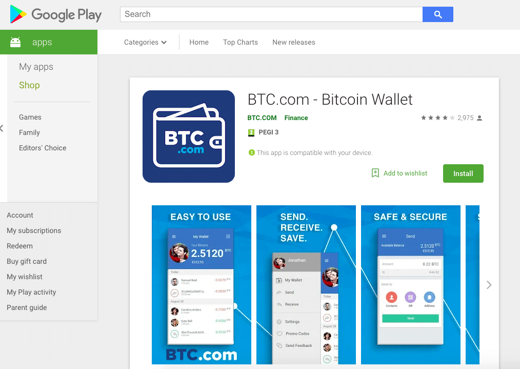 BTC Google Play