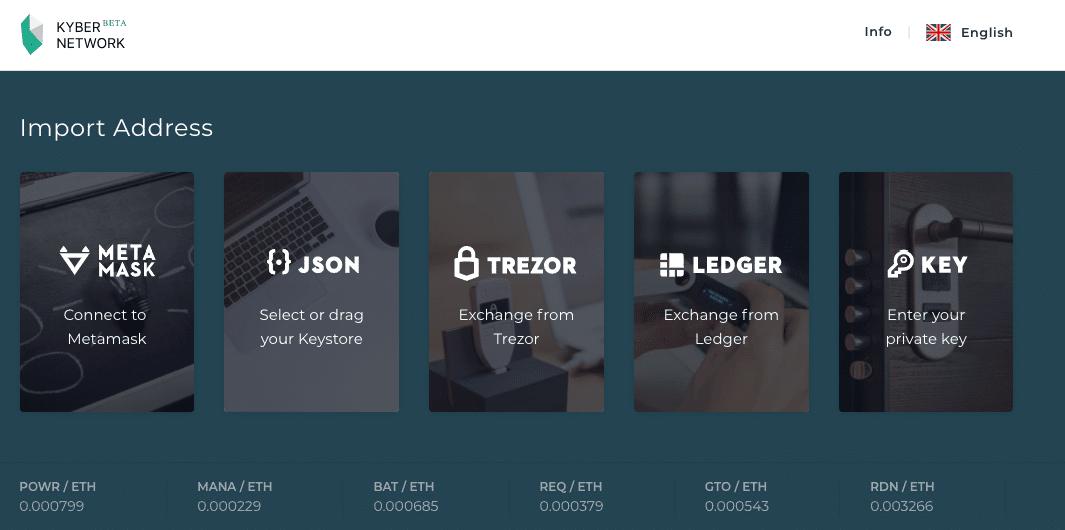 Kyber Network Hardware Wallet
