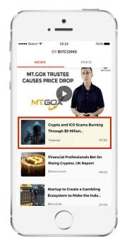 99Bitcoins mobile app