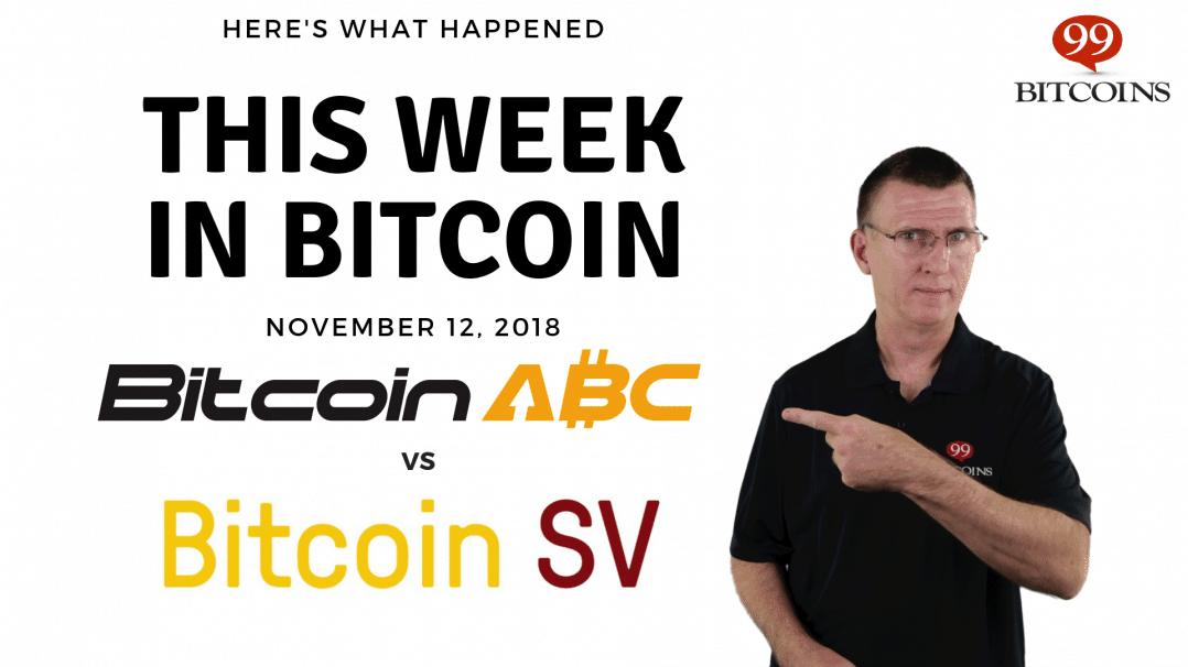 Bitcoin News Summary – November 12, 2018 thumbnail