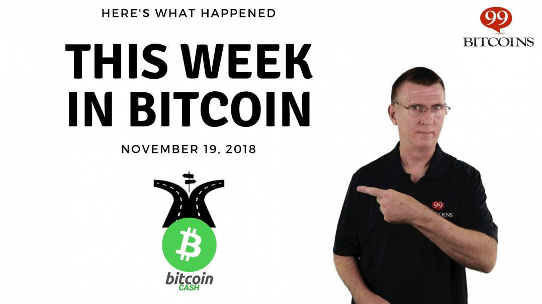 Bitcoin News Summary – November 19, 2018