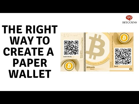 how to make a paper wallet easy way
