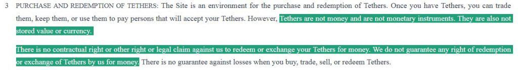 Tether Terms of Service
