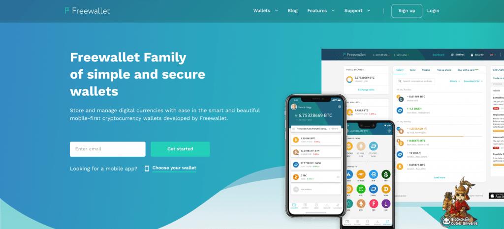 freewallet homepage