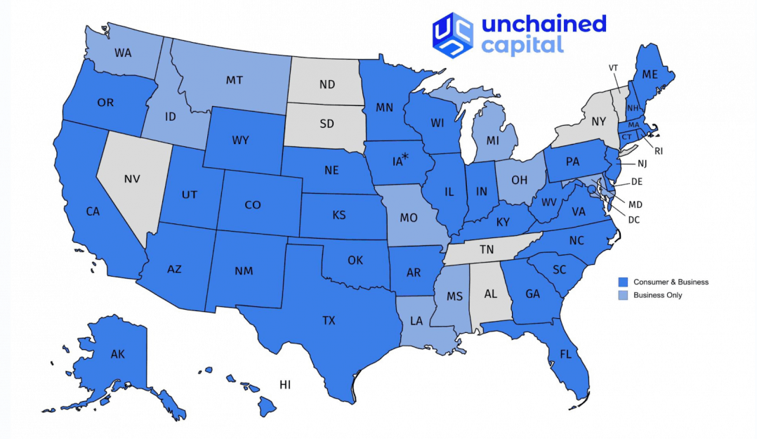 Bitcoin loan sites USA map