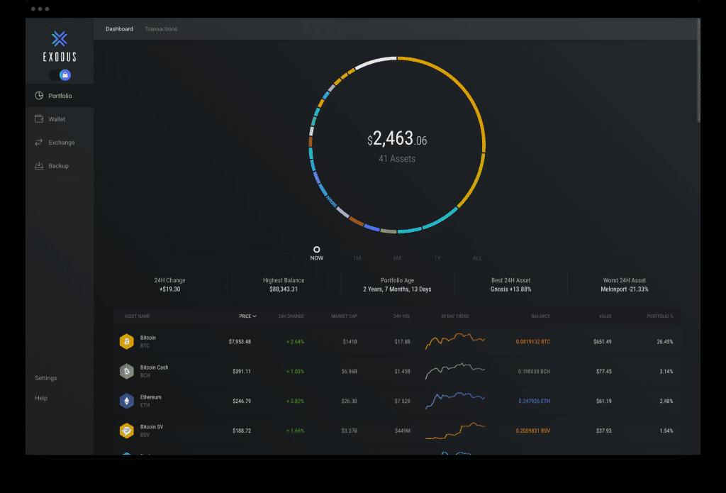 exodus desktop