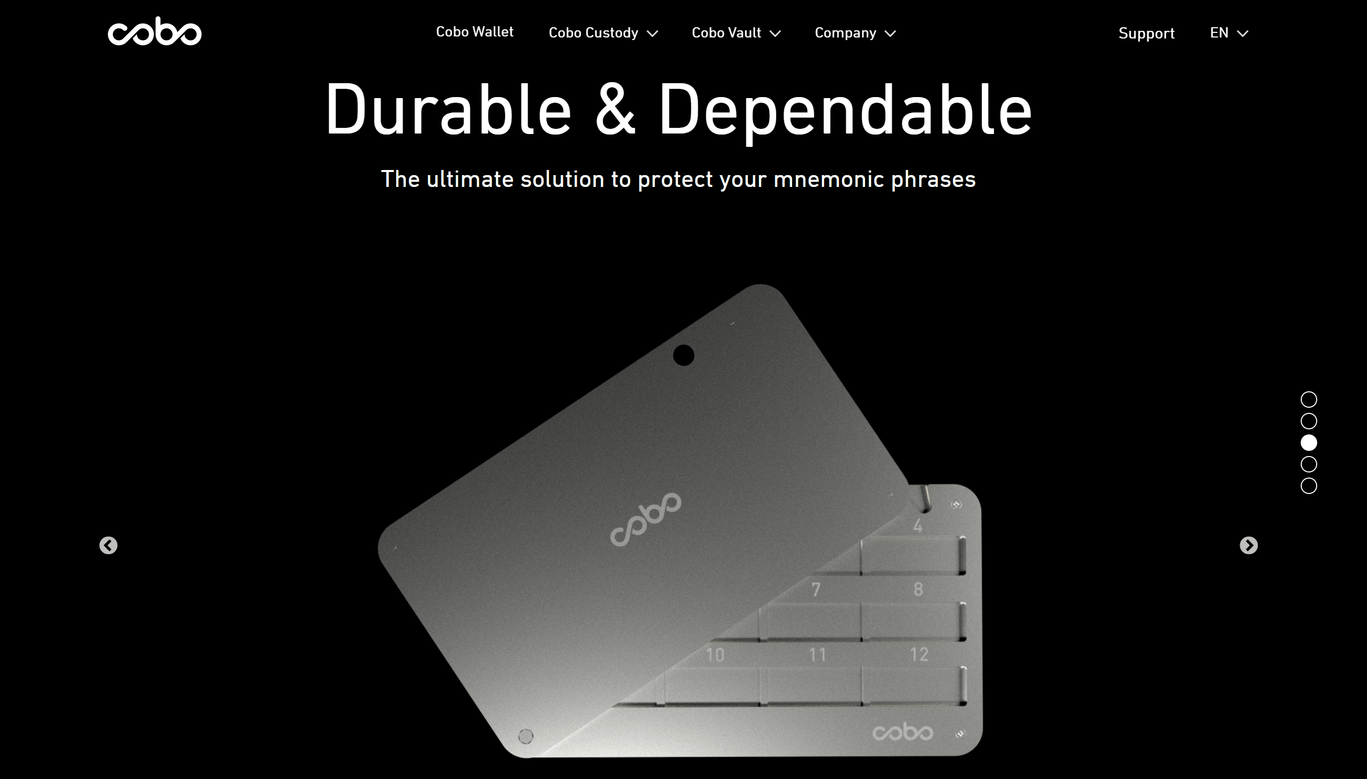 Cobo hardware wallet