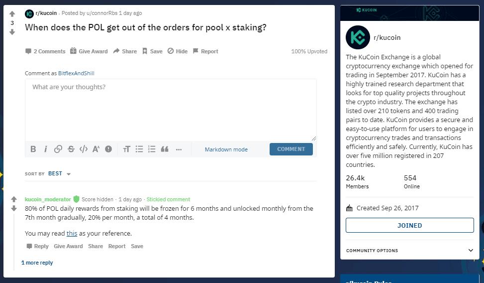 KuCoin Reddit Help