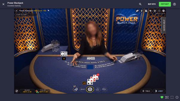 CloudBet live blackjack