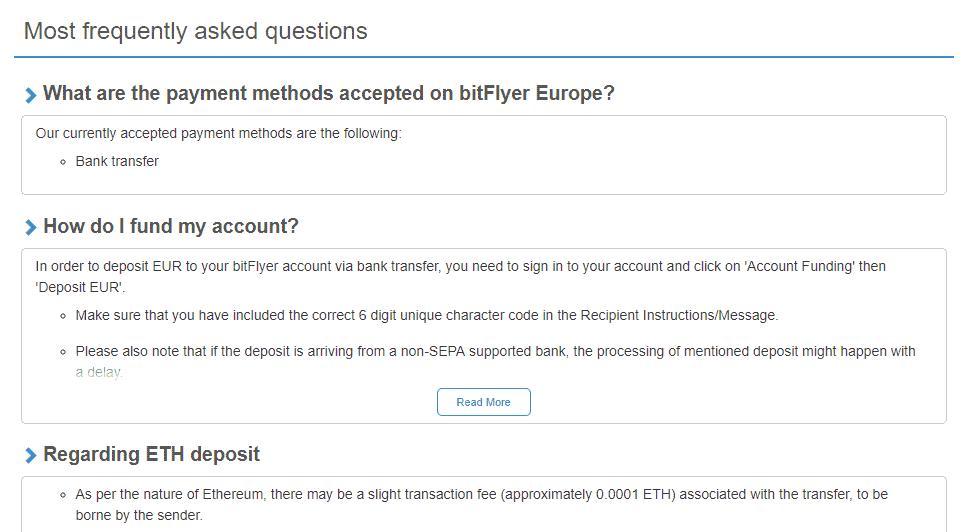 bitFlyer FAQ