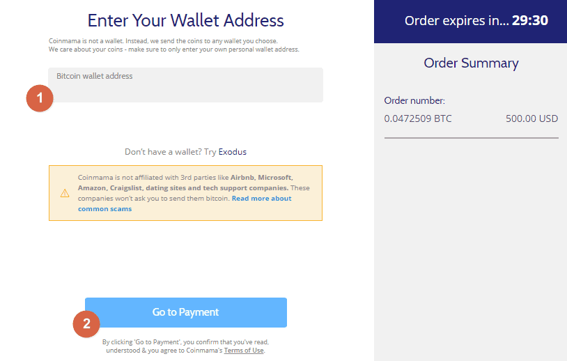 Coinmama by bitcoin with credit card wallet